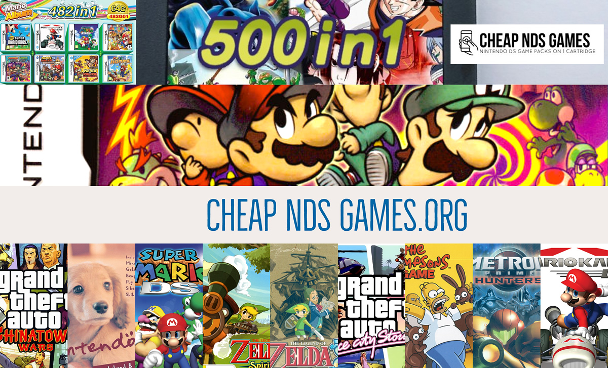 Cheap Multi DS Game Packs on 1 cartridge