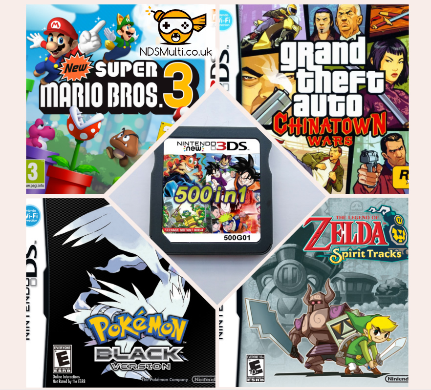 NDS Multi Games GTA Zelda Pokemon cart